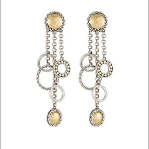 John Hardy Pali Gold & Silver Chandelier Earrings